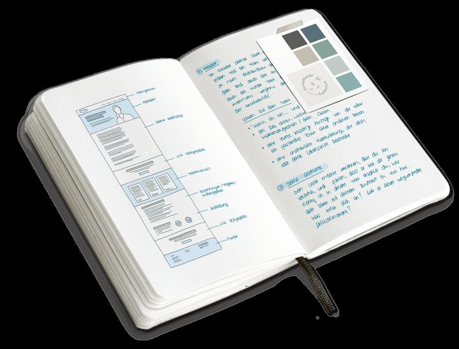 Notizbuch Websitestrategie