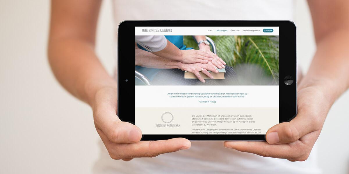 Webdesign für Pflegedienst