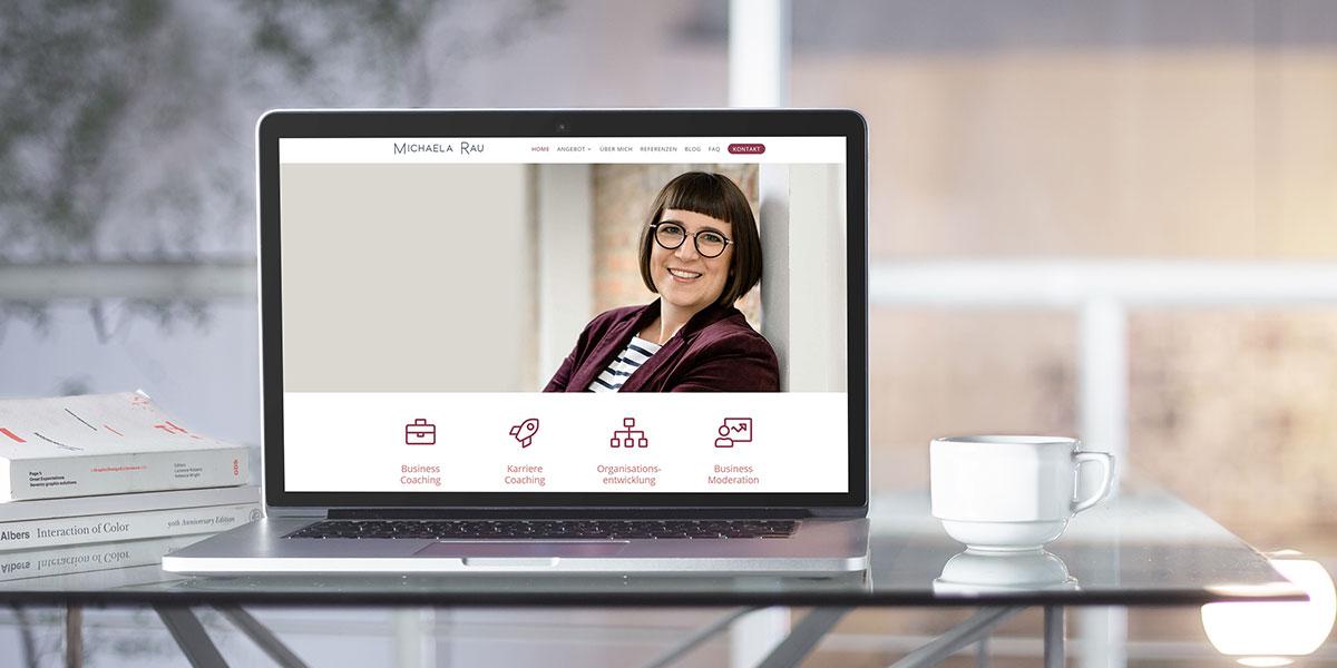 Website für Business Coach Michaela Rau